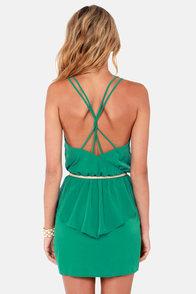 Dance Till Dawn Teal Peplum Dress at Lulus.com!