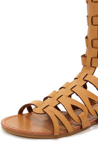 Bamboo Sawyer 03 Chestnut Tall Gladiator Sandals at Lulus.com!