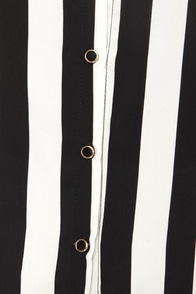 A Pirate's Stripes For Me Black and Ivory Striped Top at Lulus.com!