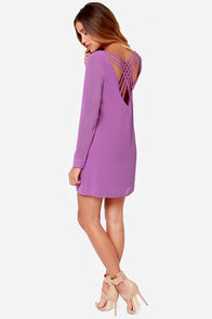 LULUS Exclusive Lattice Dance Orchid Purple Shift Dress at Lulus.com!