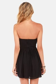 LULUS Exclusive Sash Flow Strapless Black Dress at Lulus.com!