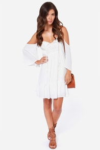LULUS Exclusive Afternoon Getaway Ivory Lace Dress at Lulus.com!