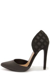 Michael Antonio Jalena Black Pointed D'Orsay Heels at Lulus.com!