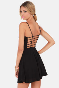 Haute Attack Black Dress at Lulus.com!