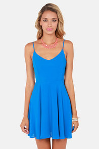 Haute Attack Blue Dress at Lulus.com!