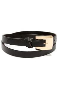 Martial Artist Black Leather Belt at Lulus.com!