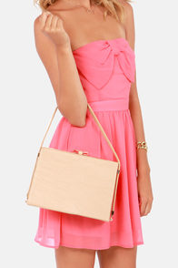 Bow on Top Beige Handbag at Lulus.com!