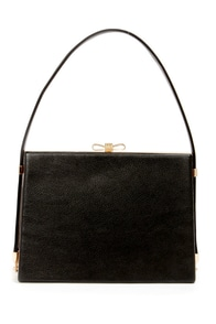 Bow on Top Black Handbag at Lulus.com!