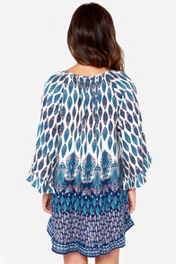 Roxy Blackbird Blue Print Dress at Lulus.com!
