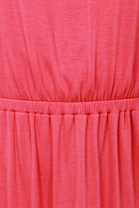 Double Dutch Strapless Coral Pink Maxi Dress at Lulus.com!