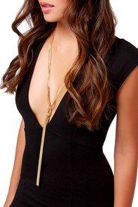 Ready or Knot Gold Chain Necklace at Lulus.com!