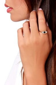 Eyes for You Gold Rhinestone Ring at Lulus.com!