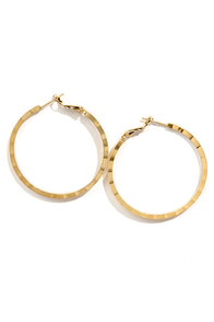 Alley Hoop Gold Hoop Earrings at Lulus.com!