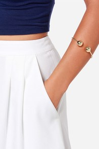 Wanna Be a Baller Gold Bracelet at Lulus.com!