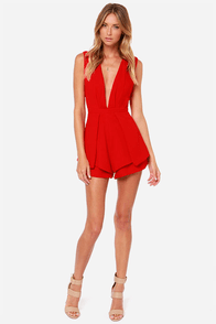 LULUS Exclusive It's a Kind of Magic Red Romper at Lulus.com!