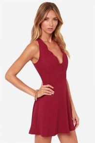 LULUS Exclusive Pacific Trim Burgundy Dress at Lulus.com!