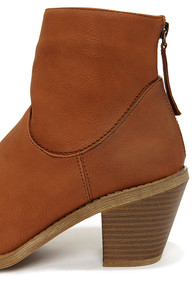 Madden Girl Gleee Cognac Ankle Boots at Lulus.com!