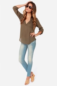 Dittos Selena Faded Medium Wash Ankle Skinny Jeans at Lulus.com!