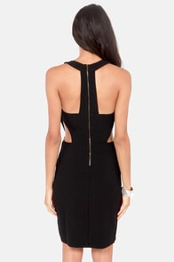 Right Beside You Cutout Black Dress at Lulus.com!