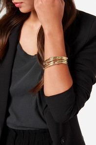 Eight Days A Week Gold Bangle Set at Lulus.com!