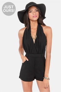 LULUS Exclusive Halt Who Goes There? Black Romper at Lulus.com!