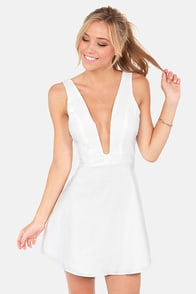 Take The Plunge Ivory Dress at Lulus.com!