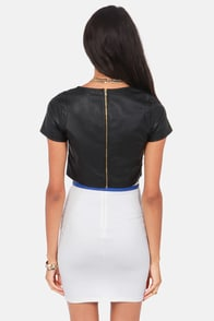 Ready To Ride Black Vegan Leather Crop Top at Lulus.com!