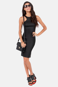 Top of Your Game Bodycon Black Dress at Lulus.com!