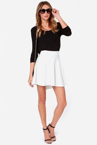 Smooth Runnings Ivory Skirt at Lulus.com!