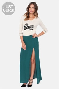 LULUS Exclusive Take It To The Max Teal Maxi Skirt at Lulus.com!