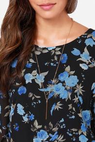 LULUS Exclusive Rose-etta Stone Black Floral Print Dress at Lulus.com!