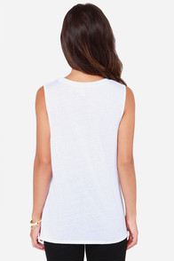 Volcom Drifter White Muscle Tee at Lulus.com!