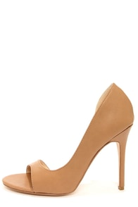 Anne Michelle Rapture 89 Natural D'Orsay Heels at Lulus.com!