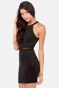 Watch Sheer Back Black Cutout Dress at Lulus.com!