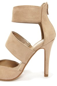 My Delicious Coronal Oat Beige Suede Pointed Heels at Lulus.com!