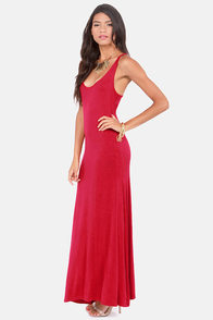 Lucy Love Racer Back Red Maxi Dress at Lulus.com!