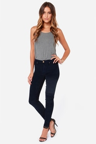 Blank NYC Juke Box Navy Blue Corduroy Skinny Pants at Lulus.com!