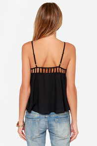 Volcom Strapd Black Tank Top at Lulus.com!