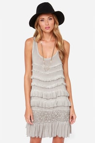 Black Swan Ring of Fire Washed Grey Dress at Lulus.com!