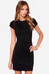 Black Swan Loren Black Sheath Dress at Lulus.com!