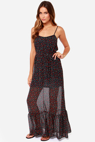 Others Follow Topanga Navy Blue Print Maxi Dress at Lulus.com!