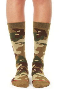 Stance Private Camo Print Socks at Lulus.com!