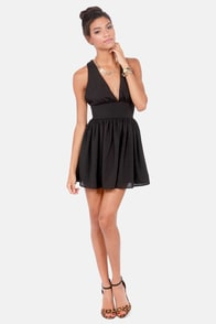 V is for Vixen Black Dress at Lulus.com!