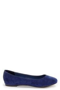 Cherry 11 Navy Blue Ballet Flats at Lulus.com!