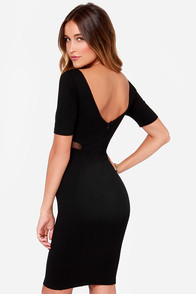 Don't Mesh Around Black Midi Dress at Lulus.com!