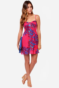 Roxy Hot Flash Fuchsia Print Dress at Lulus.com!