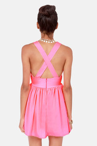 V is for Vixen Neon Coral Dress at Lulus.com!