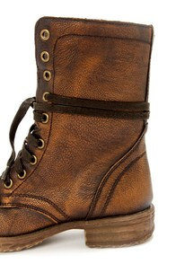 Very Volatile Chimney Bronze Lace-Up Combat Boots at Lulus.com!