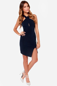 Keepsake Motionless Navy Blue Dress at Lulus.com!