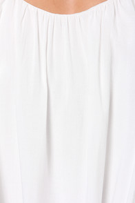 LULUS Exclusive Flare-y Princess Ivory Top at Lulus.com!
